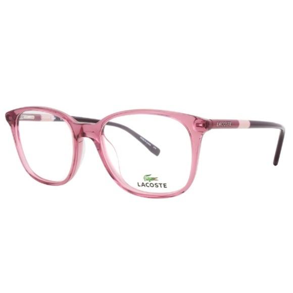 efe0e22b890 Lacoste Eyeglasses Rose Pink Crystal Frame